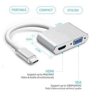 Image 4 - Адаптер USB 3,1 Type C USB C To VGA, адаптер HDMI 4K 30 Гц для нового Macbook Pro/ Chromebook Pix