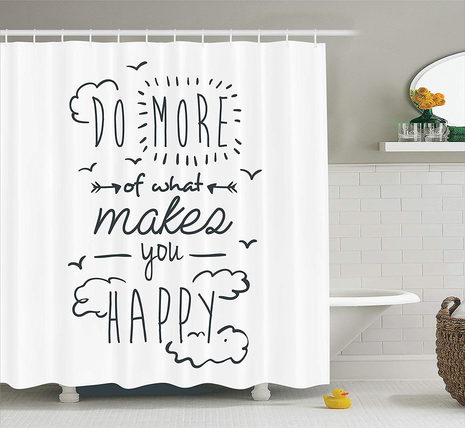 Funny Shower Curtain Inspirational Quotes Decor Do More Of