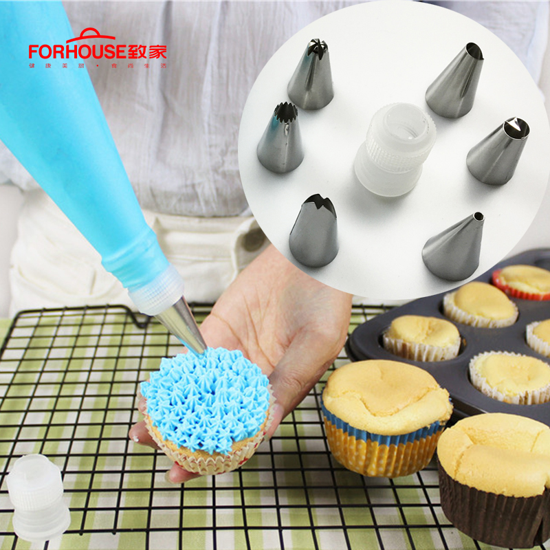 Icing Piping Nozzle Set Baking Pastry Bag Stainless Nozzle ...