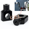 "1"" Motorcycle Handlebar Shorty Risers Clamp 25mm Fit For Honda Shadow VLX 600 VTX1800 ACE 750"