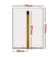 AMT2507 AMT 2527 new 10.4 inch 5 wire resistance flat knitting machine touch panel glass 234*178