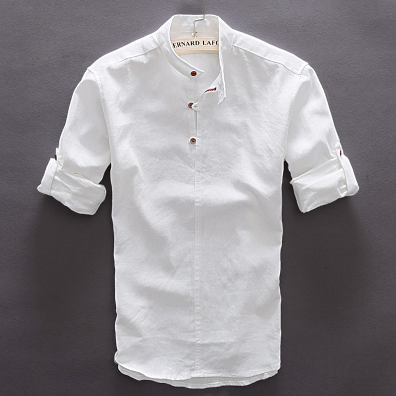 Online buy wholesale pan asia from china pan asia for Linen long sleeve shirt