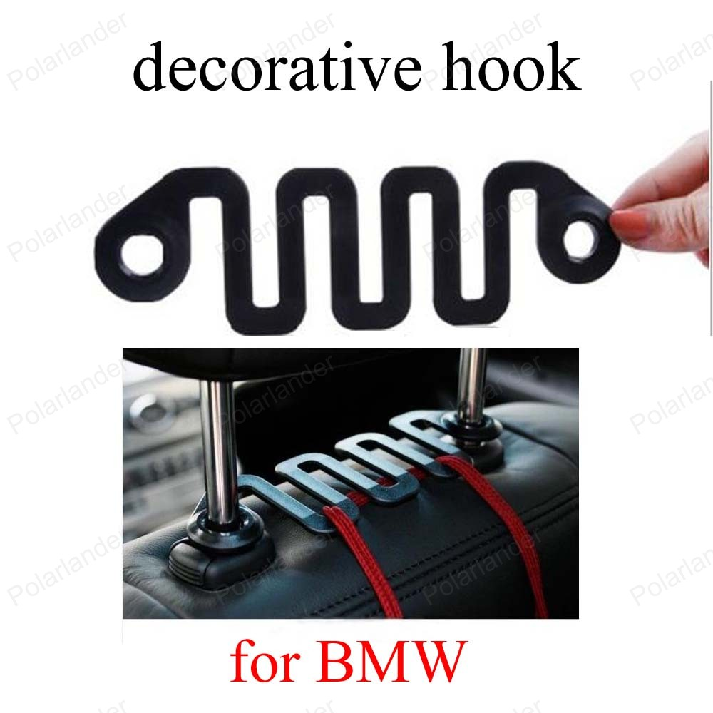 Plastic ornament hooks - For B Mw Clothes Bag Hook Automotive Wave Car Styling High Density Molecular Plastic