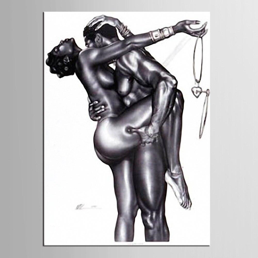 1 panneau Passion Peinture Nu Femme et Homme Abstrait Corps Art Peinture Impression Sur Toile pour Chambre Hôtel Wall Decor