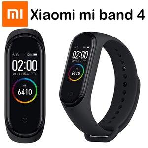 Image 1 - Original Xiaomi Mi Band 4 Smart Wristbands Miband 3 Bracelet Heart Rate Fitness Tracker Touch Screen pulsera inteligente 2019