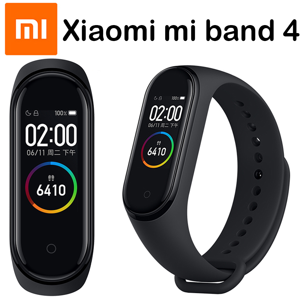 Original Xiaomi mi Band 4 pulseras inteligentes mi band 3 pulsera ritmo cardíaco rastreador de Fitness pantalla táctil pulsera inteligente 2019