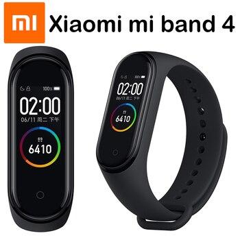 Original Xiaomi mi Band 4 pulseras inteligentes mi band 3 pulsera rastreador deportivo de ritmo cardíaco pantalla táctil pulsera inteligente 2019