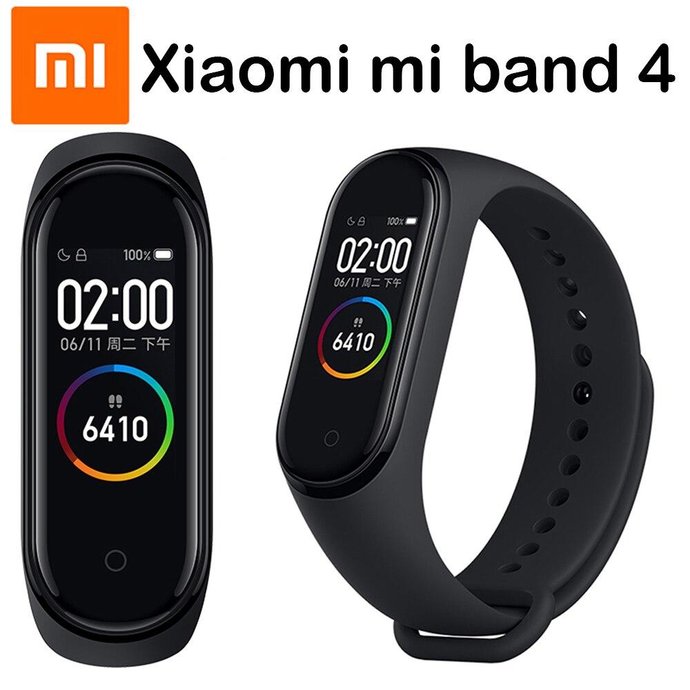 Orijinal Xiao mi mi bant 4 akıllı bileklikler mi bant 3 bilezik egzersiz kalp atışı takip cihazı dokunmatik ekran pulsera inteligente 2019