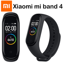 מקורי שיאו mi mi Band 4 חכם Wristbands mi band 3 צמיד קצב לב כושר Tracker מגע מסך pulsera inteligente 2019