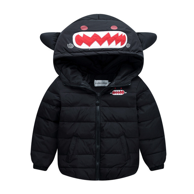 Children Down Jacket for Girls and Boys Kids Hooded Down Coat Little Monster Winter Jackets for Teenage Outerwear Coat dj063
