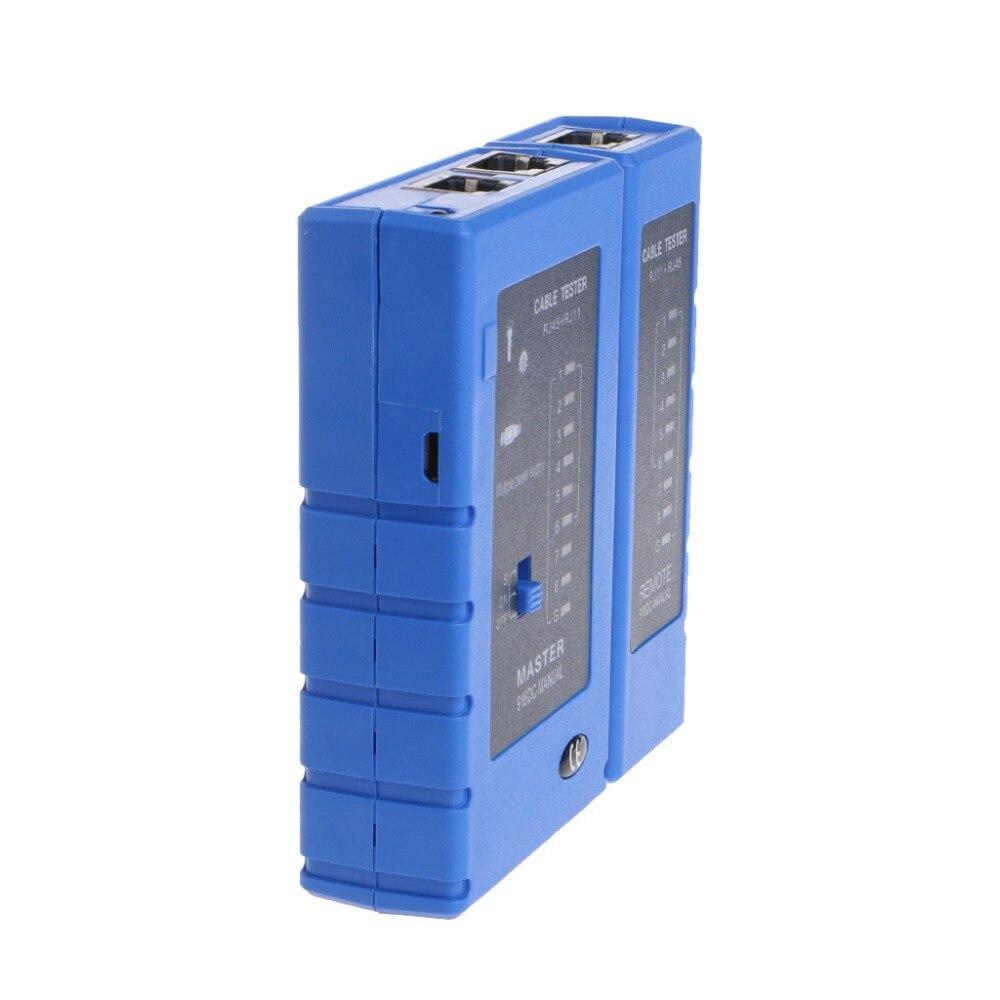1 Pc Biru Cerdas Usb Jaringan Lan Ethernet Kabel Tester Untuk Rj45 Adapter To Rj11 Cat5 Cat6 Utp Alat Kualitas Tinggi C26 Di Networking Tools Dari