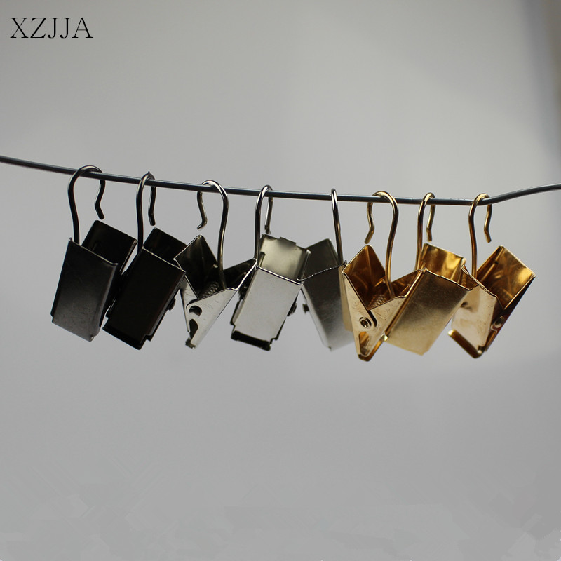 XZJJA 10pcs Window Shower Curtain Hook Clips Sturdy And Durable Drapery Clips Curtain Rings Clamps Home Bathroom Accessories