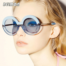 Belmon Fashion Round Sunglasses Women Brand Designer Vintage Sun Glasses For Ladies UV400 Oculos de Sol Female Sunglass RS652