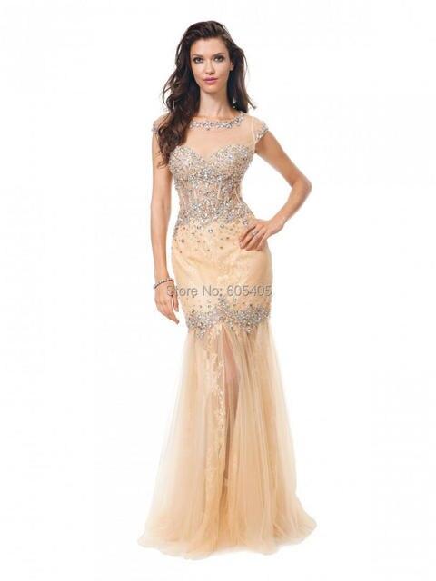 0579a644649 Fashionable Vestido Pedraria Long Mermaid Prom Dresses For Party with  Luxurious Crystals Over Vestidos Para Casamento Convidada