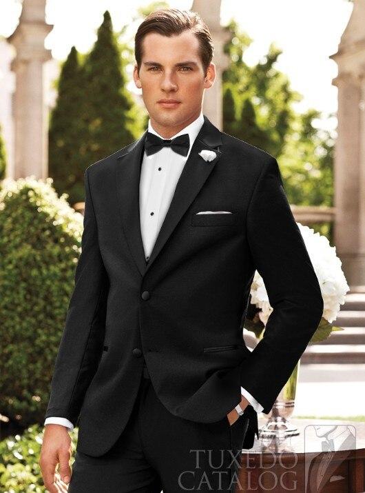 2015 Real Smoking Mens Suits Pants Terno Groom Tuxedos Suit Wedding Groomsmanmen Item Code;68880017 - duan changxin's store
