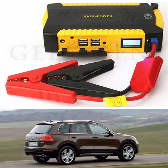 A+ New Capacity 16000mAh 12V Car Jump Starter Portable 600A Peak Car Battery Charger 4USB Power Bank SOS Light Compass Free Ship