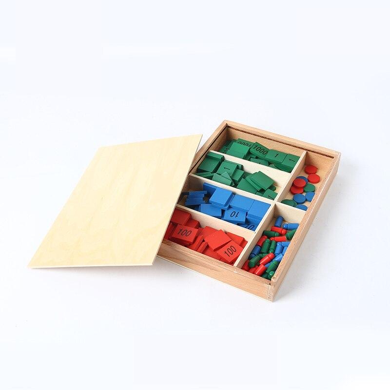 Bois bébé jouet Montessori timbre jeu maths pour l'éducation de la petite enfance préscolaire formation enfants jouets Brinquedos Juguetes - 2