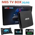 Original Amlogic S812 Android TV Box M8S Quad Core 2 G / 8 G Kodi adicionar - ons pré instalado 4 K 2.4 G & 5 GWiFi Full HD Smart TV Media Player