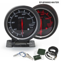 Tansky DF BF 60mm WATER TEMP GAUGE Black Bracket Light Color White And Red TK DF60002