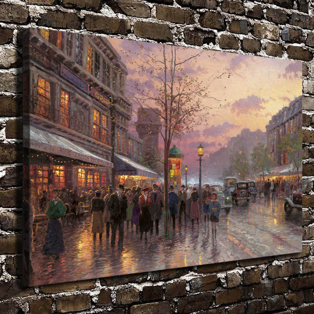 Buy h1137 thomas kinkade boulevard lights for Living room 12x18
