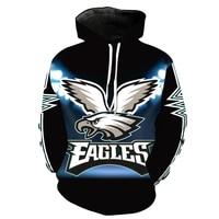 Cloudstyle 3D Printing Hoodies Eagle Fly Wings Pullover Men S Outwear Long Sleeve Jacket Animal Tracksuit