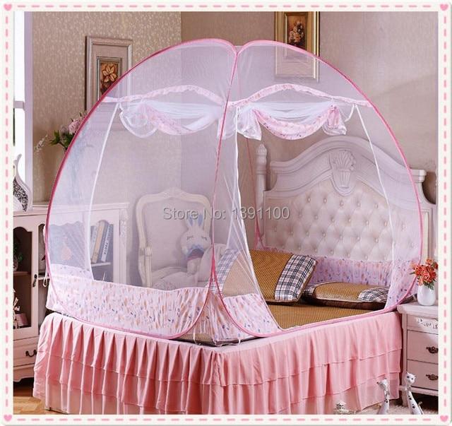 Luifel bed gordijnen, met de mobiele riem, 100% polyester, hemelbed ...