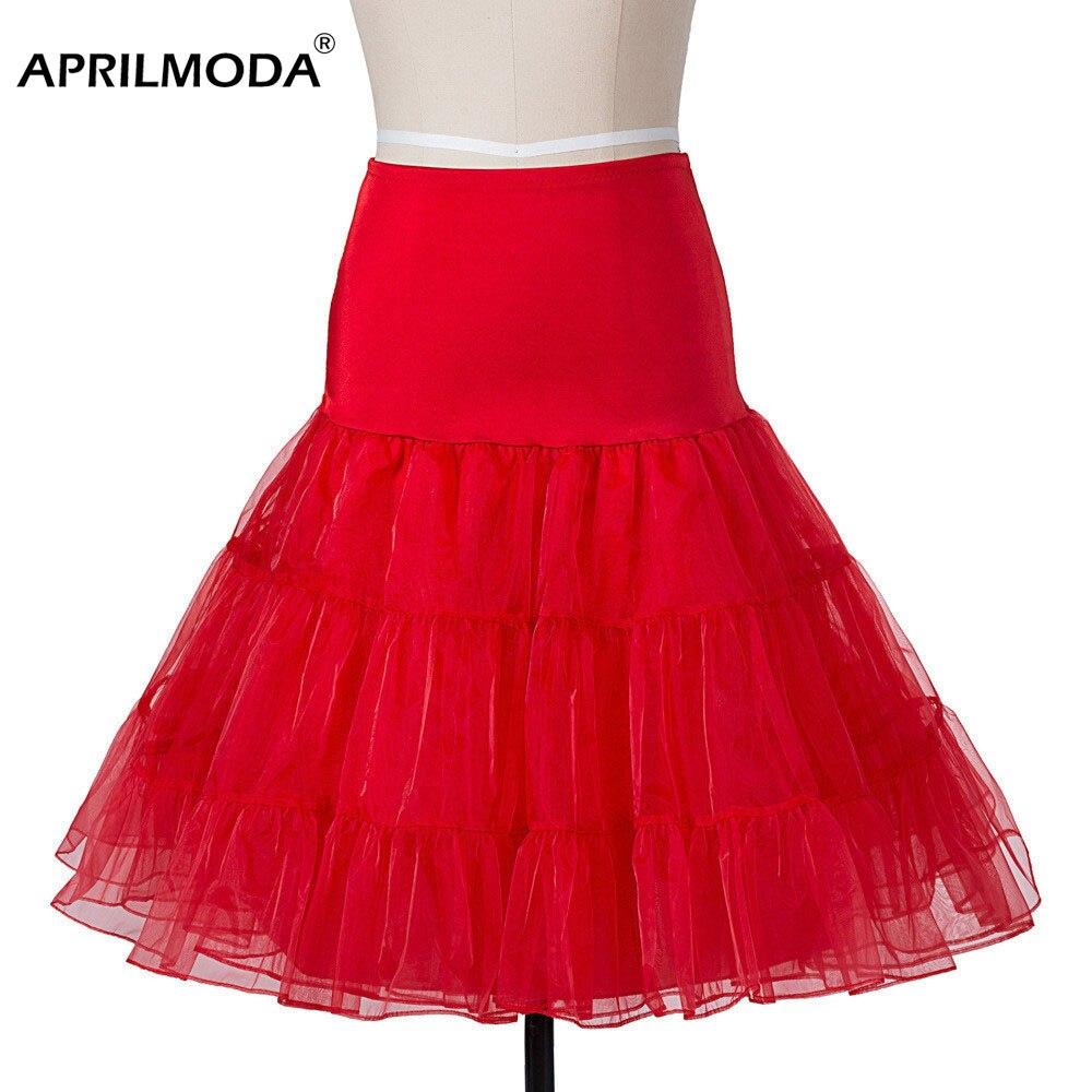 Robe de bal femmes jupes rétro Vintage Empire solide couleur polyester sous-Jupe décontracté Jupe Longue Femme Ete Jupe jupon 50 s