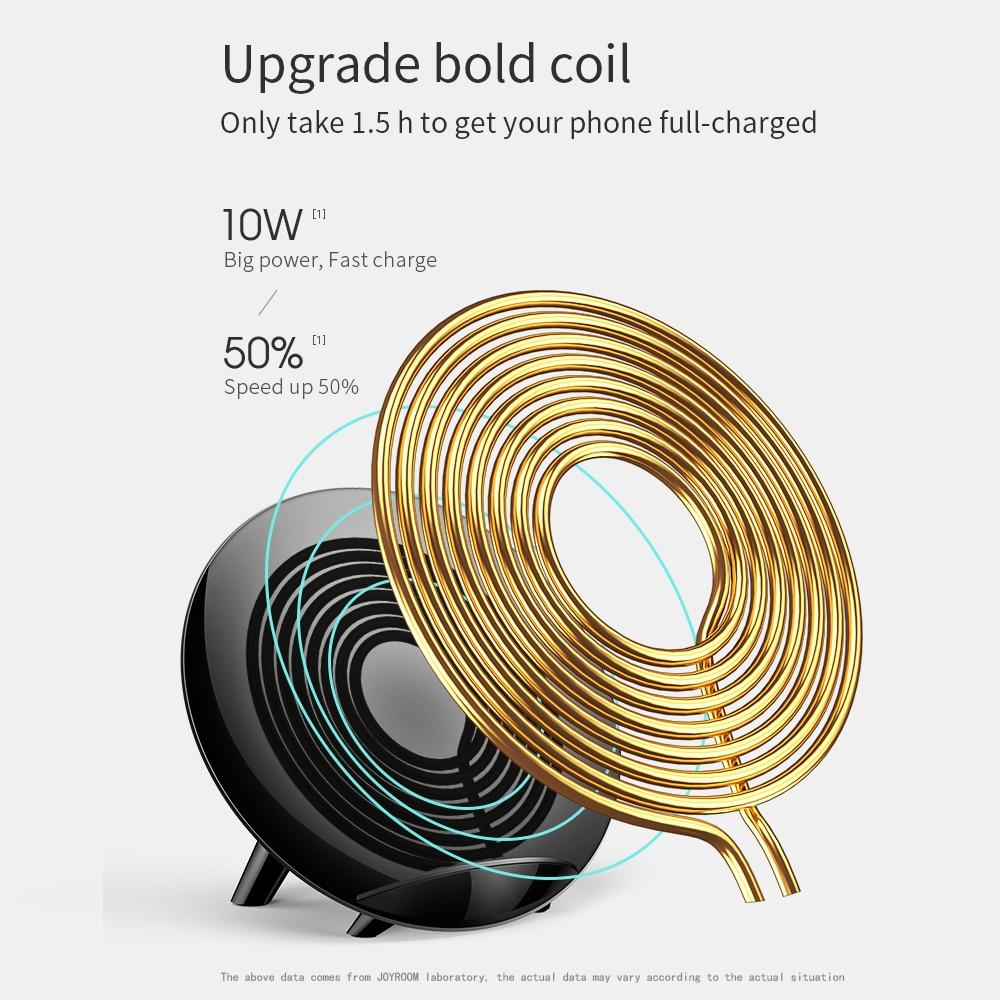 Joyroom 10 W Qi chargeur sans fil pour iPhone X 8 Plus rapide USB sans fil chargeur pour Samsung Galaxy S8 Plus Note 8 S6 S7 Edge + - 4