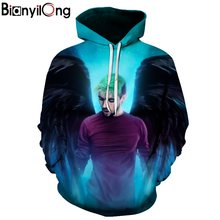 New angel Hoodies Men 3d Sweatshirt Hooded Anime Pullover Quality Brand Hoodies Harajuku Printed Fashion Tracksuit Boy Jackets(China)