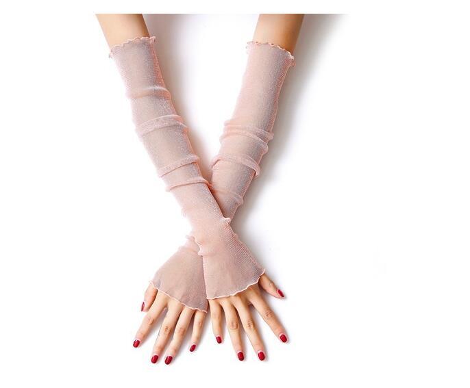 Mode Mädchen Fingerlose Arm Wärme Dünne Stretch Lange Finger Fahrhandschuhe Frauen Elegante Dating Hülse Handschuhe 2019 New Fashion Style Online Bekleidung Zubehör