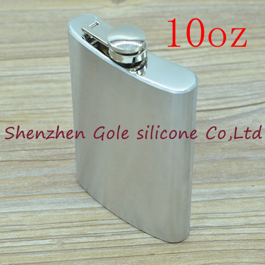 100pcs 10oz Stainless Steel Pocket Flask Russian Hip Flask Male Small Portable Mini Shot Bottles Whiskey Jug Small Gifts For Man