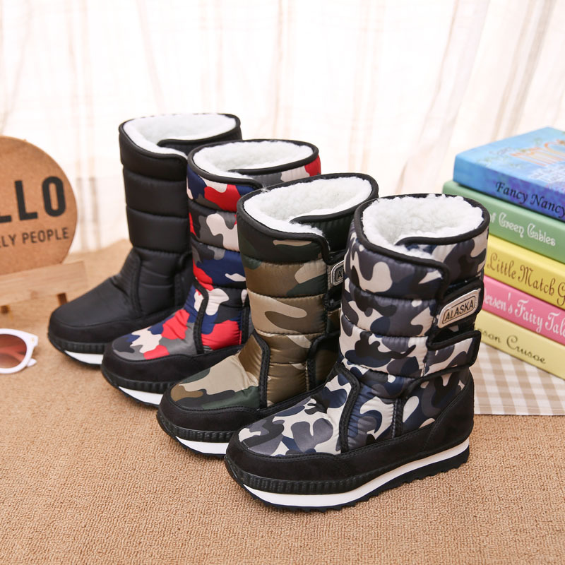 Fashion Suitable for cold winter comfortable and lightweight thick warm children 39 s snow boots boys and girls non slip booties in Boots from Mother amp Kids