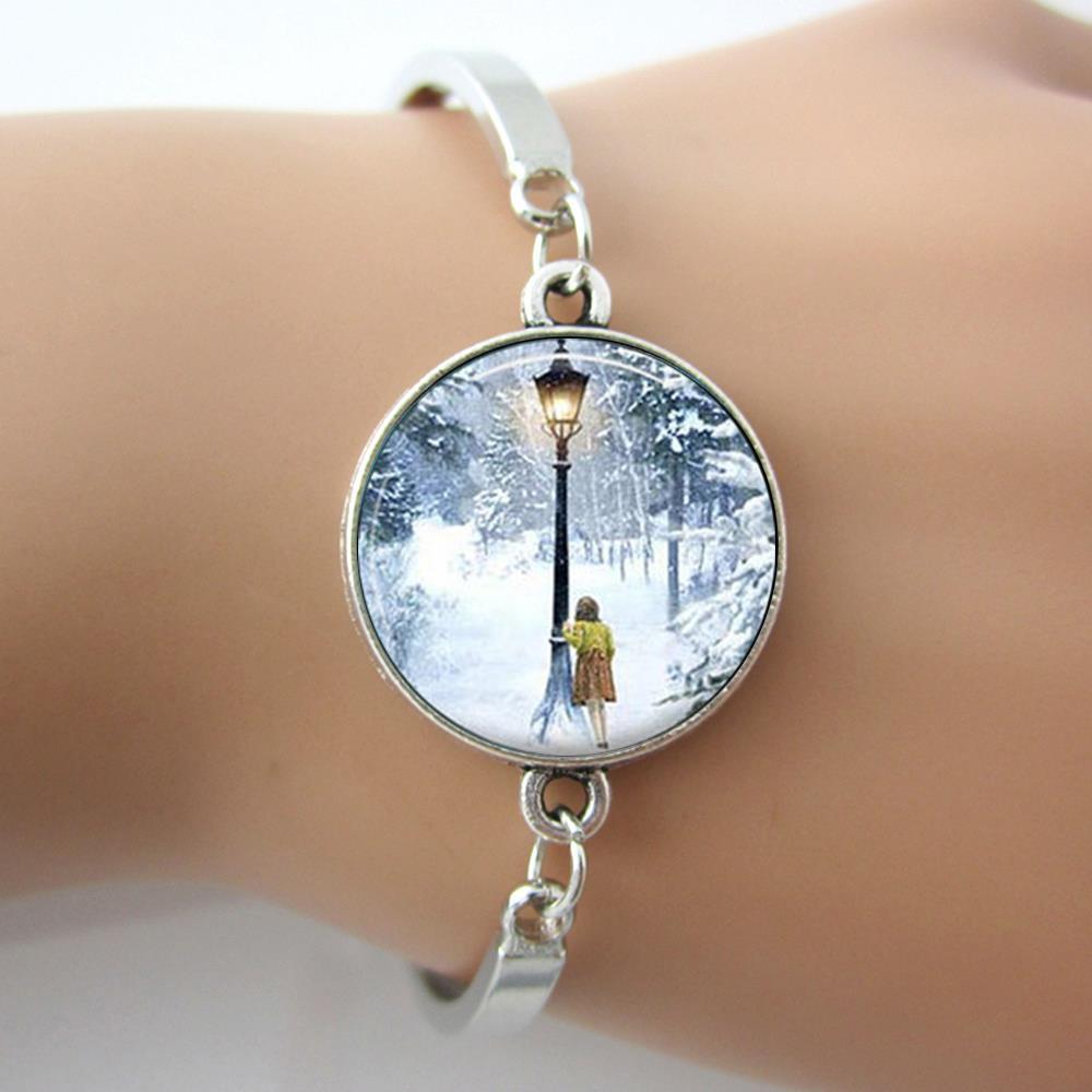 Narnia Bracelet,<font><b>The</b></font> <font><b>Lion</b></font> <font><b>The</b></font> <font><b>Witch</b></font> <font><b>and</b></font> <font><b>The</b></font> <font><b>Wardrobe</b></font>,Bracelets Bangles,Lucy <font><b>and</b></font> Lamp-Post Charm Bangle Jewelry
