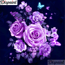Dispaint Full Square/Round Drill 5D DIY Diamond Painting Flower Rose butterfly 3D Embroidery Cross Stitch 5D Home Decor A11846 подушки для малыша lorena canals подушка печенька 50х35 см