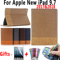 Premium Leather Flip Case For Apple New IPad 9 7 2017 A1822 A1823 Cover For Apple