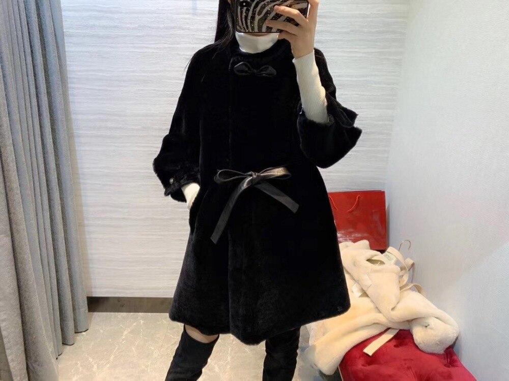 Hiver châle réel cachemire chaud épais manteau 2018 grande taille Poncho femmes réel renard fourrure Cape grand pendule en queue d'aronde Cardigan