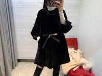 Winter Shawl real Cashmere Warm Thick Coat 2018 Plus Size Poncho Women real Fox Fur Cape Big Pendulum Dovetail Cardigan