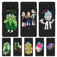 P186 Rick Und Morty Einzigartige Schwarz Silikon Fall Abdeckung Für Samsung Galaxy Note 3 4 5 8 9 M10 M20 m30