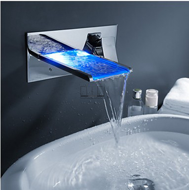 Shipping in 24 Hours Bathroom Mixer Tap Color Changing LED ...