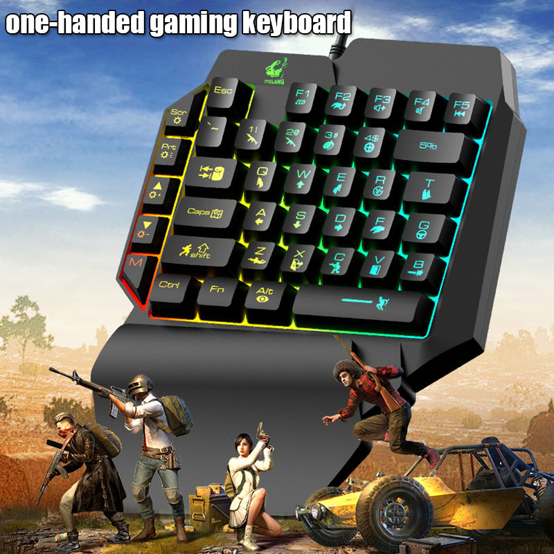 One-Handed Mechanical Gaming Keyboard 39 Keys USB Port Ergonomic Keypad Dropshipping