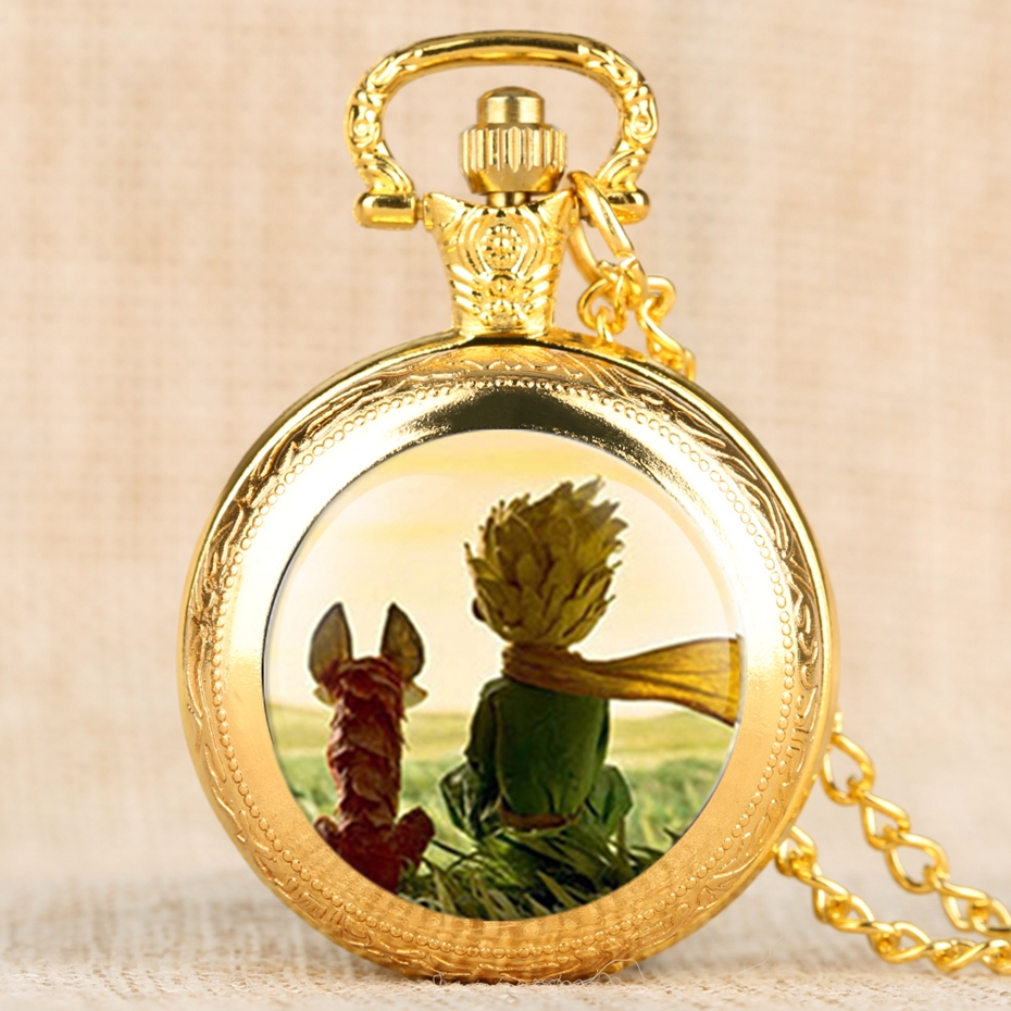 Hot Selling Classic The Little Prince Movie Planet Blue Bronze Vintage Quartz Pocket FOB Watch Popular Gifts for Boys Girls Kids 2019 2020 2021 2022 2023 2024 (9)