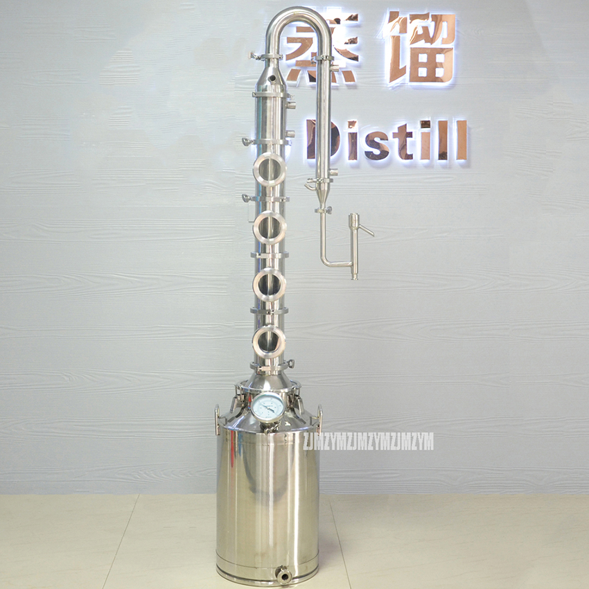 50L Home Distiller 304 Stainless Steel Heating Rod To Heating Liquor Fermented Alcohol Distillation Wine Making