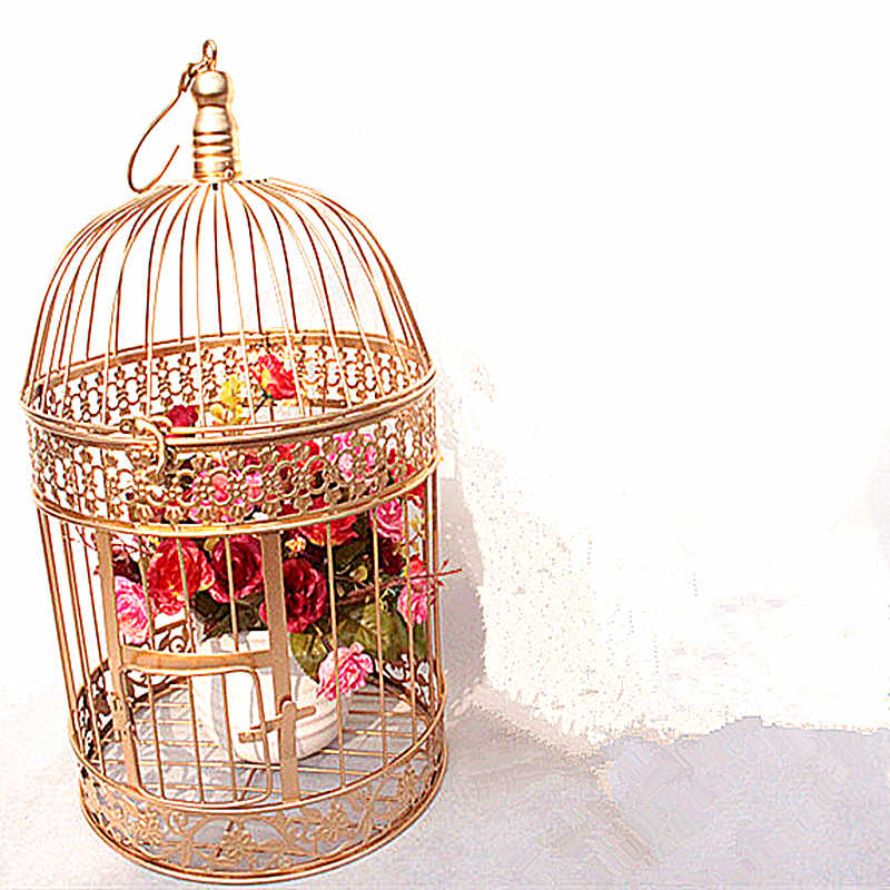 Iron bird cage, European iron bird cage, wedding decoration, flower cage ornaments, props, bird cage, flower rack, birdcage.