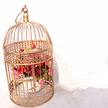Iron bird cage, European iron wedding decoration, flower cage ornaments, props, rack, birdcage.