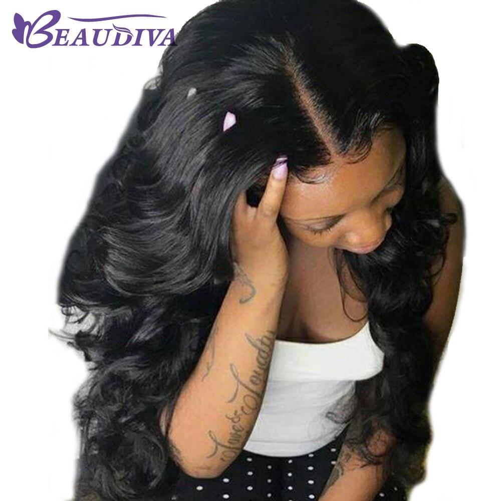 BEAUDIVA Brazilian Body Wave Lace Front Human Hair Wigs 100 Human Hair Wig 4x4 Lace Front