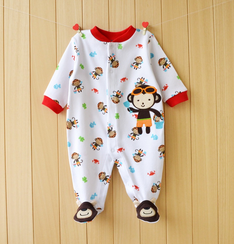 17 New spring cartoon baby rompers cotton 100% girls and boys clothes long sleeve romper Baby Jumpsuit newborn baby Clothing 6