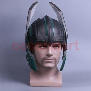 Image 2 - 2017 Thor 3 Ragnarok Helmet Cosplay Thor Helmet PVC Mask Handmade Halloween Mask Caps New