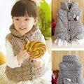 2016 kids lace colete infantil winter spring autumn baby girl's clothes leopard warm cotton children vest baby vest girls vest