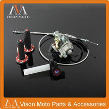PZ30 30mm Carburetor Power Jet Accelerating Pump+Visiable Throttle Twister+Dual Cable IRBIS+Pro taper Grips