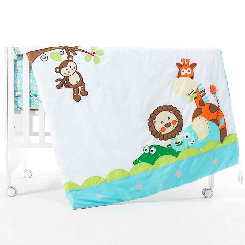 76*102cm Super Soft Polyster Baby Blanket Infant Crib Bedding Cartoon Monkey Rabbit Bear Blanket Newborn Gift For Boys Girls Blanket & Swaddling Baby Bedding